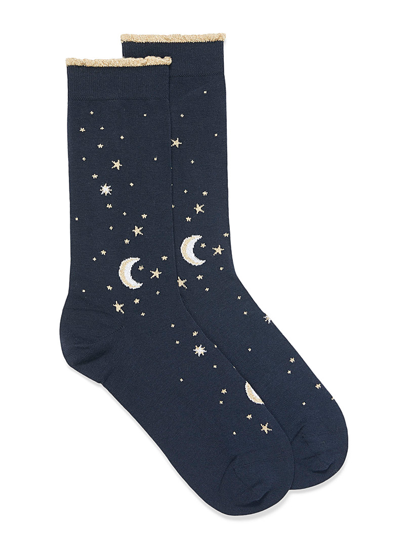 Shimmery night socks