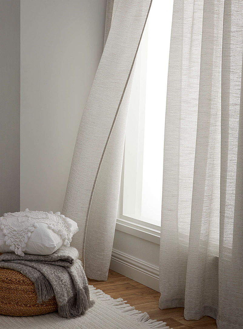 Simons Maison Light Grey Linen-blend rustic sheer curtain 135 x 220 cm