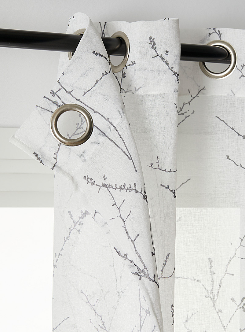 Simons Maison Dark Grey Fall branches voile curtain 2 sizes available