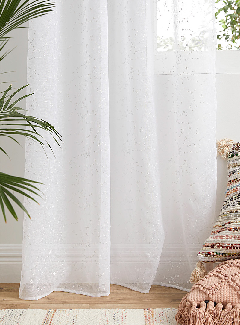 Simons Maison White Milky Way sheer curtain  135 x 220 cm