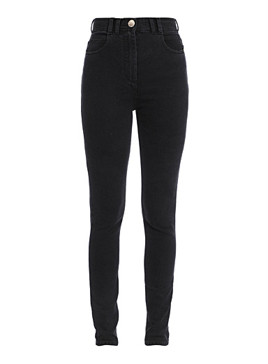 Balmain Black B monogram jean for women