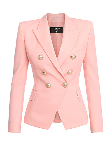 Balmain Dusky Pink Double-breasted blazer for women