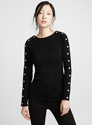 Iconic buttons sweater