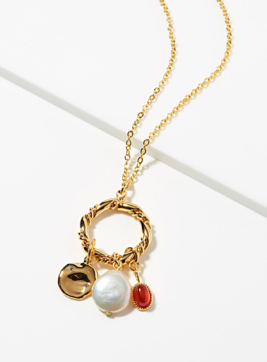 Charm ring necklace