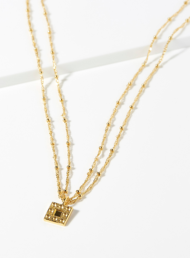 textured-gold-square-necklace