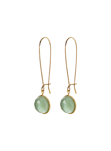 Sea-green Pom earrings