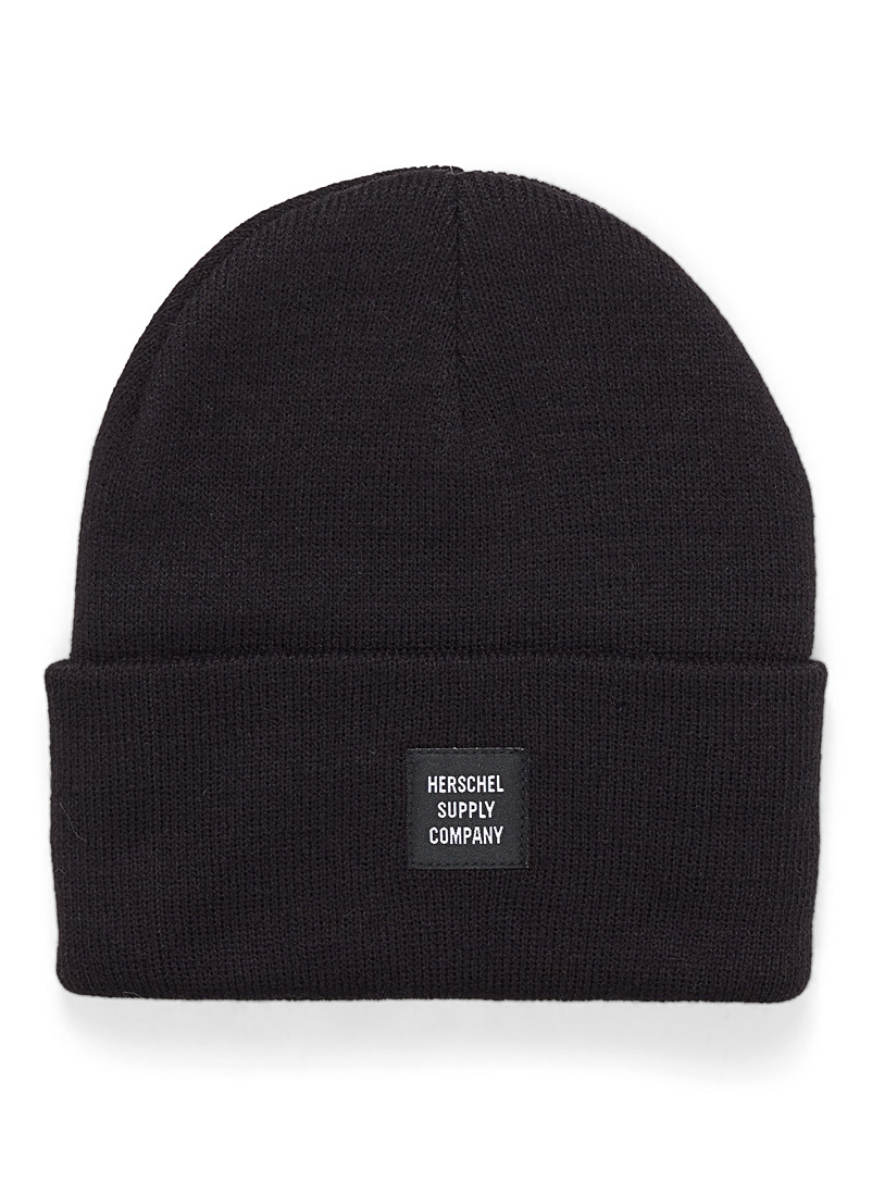 Herschel Black Abbott beanie for women