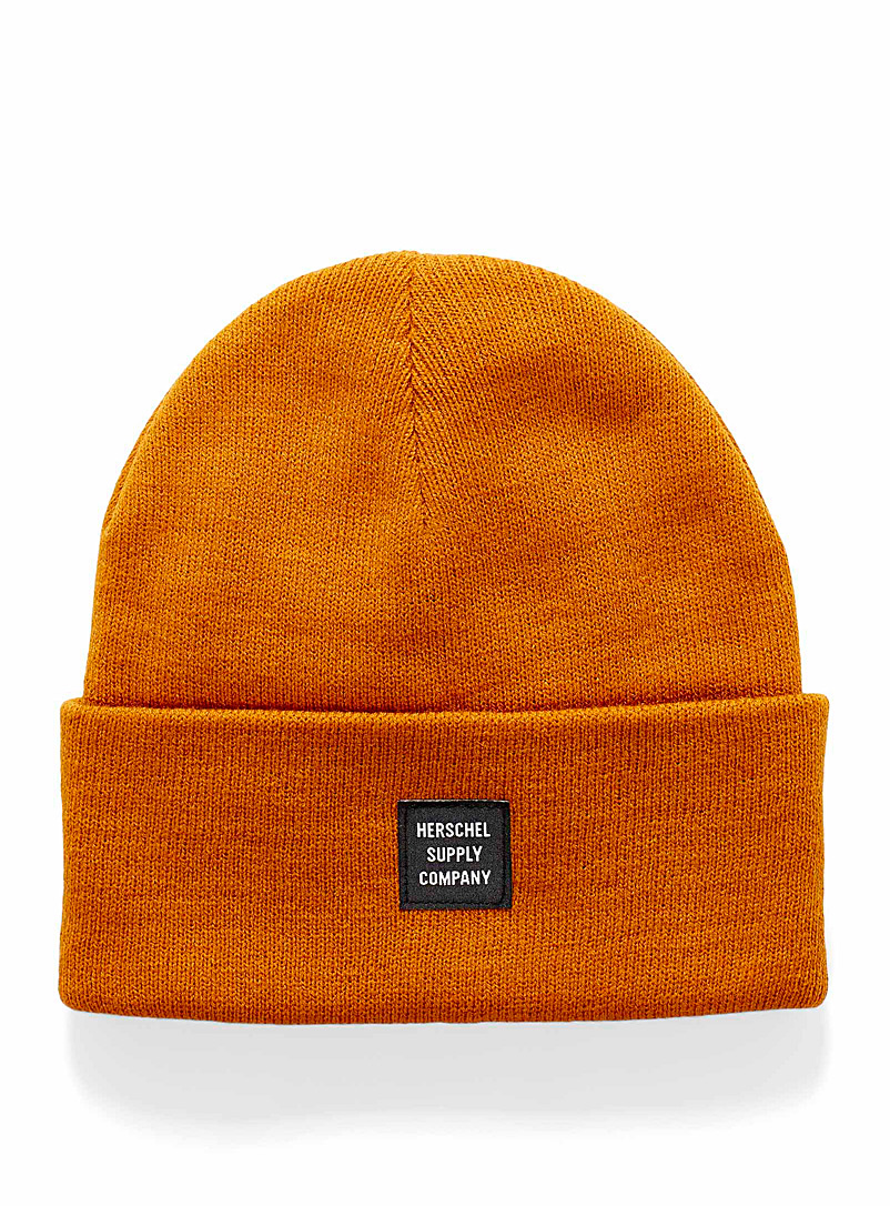 Herschel Light Orange Abbott beanie for women