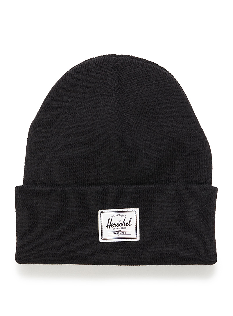 Herschel Black Heathered Elmer beanie for women
