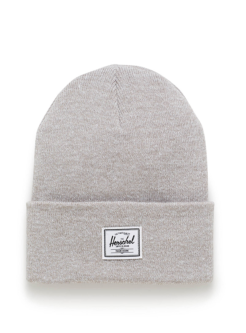 Herschel Cream Beige Heathered Abbott beanie for women