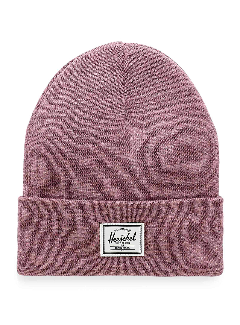Heathered Abbott beanie - Tuques & Berets - Dusty pink