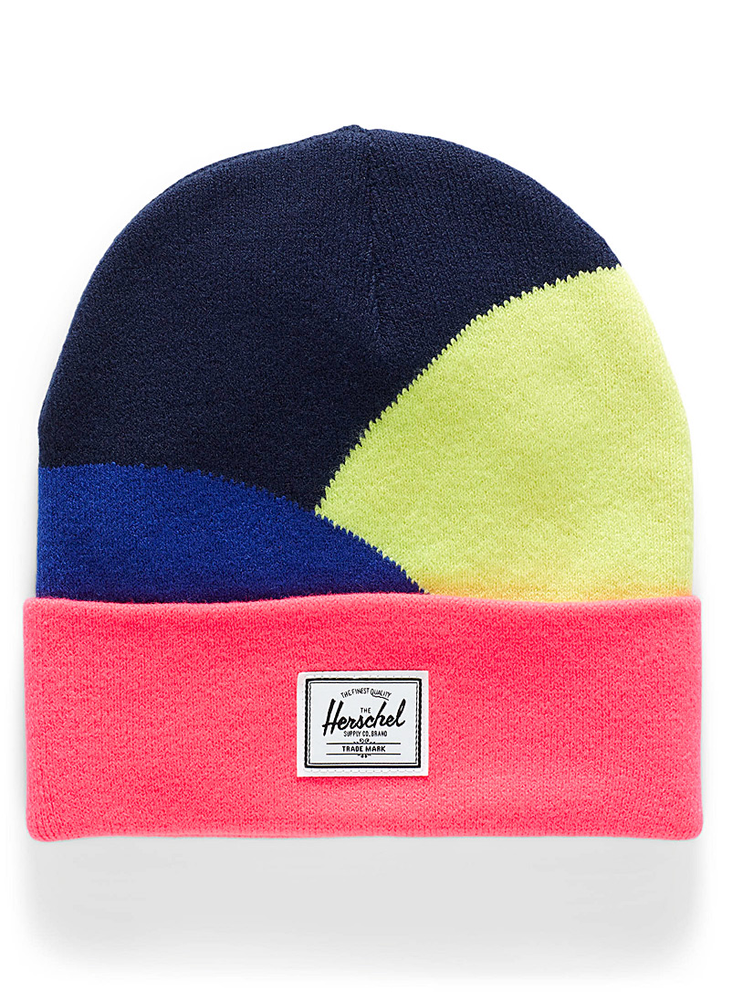 Herschel Patterned Red Colour block tuque for women