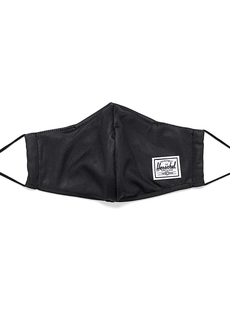 Herschel Black Solid colour fabric mask for women