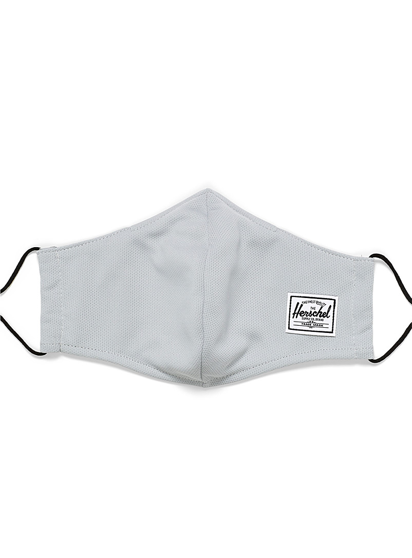 Herschel Grey Adjustable fabric mask for women