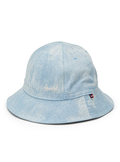 Bleached denim bucket hat