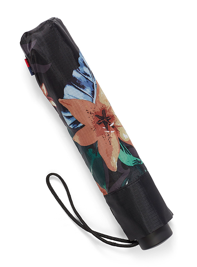 Herschel Patterned Brown Voyage compact umbrella for women