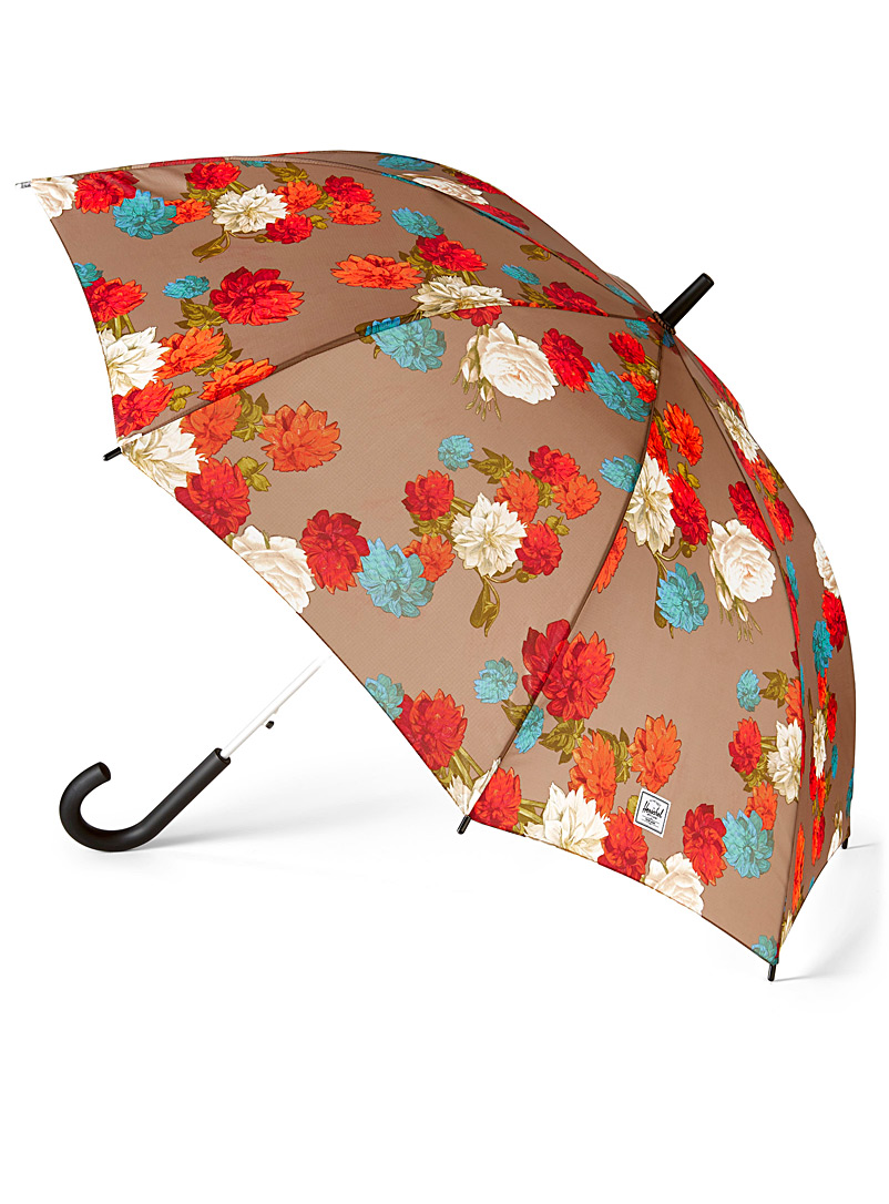 Herschel Patterned Brown Voyage umbrella for women