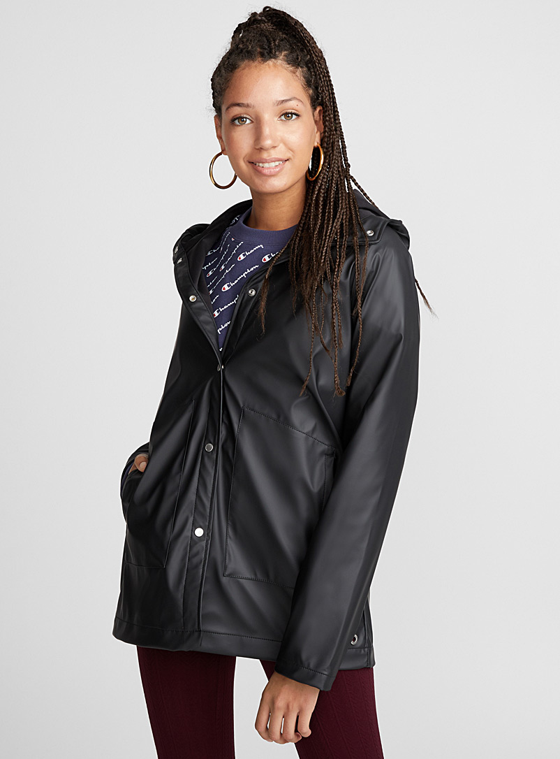 Rainwear raincoat - Raincoats - Patterned Black