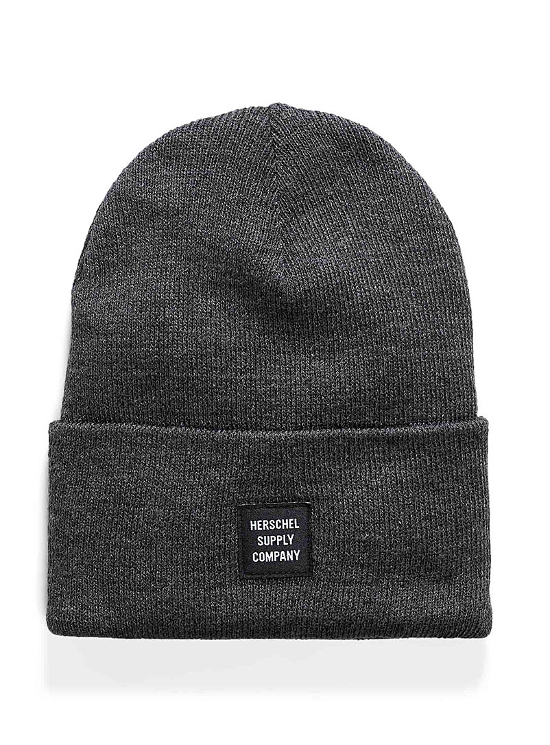 Herschel Black Abbott monochrome tuque for men