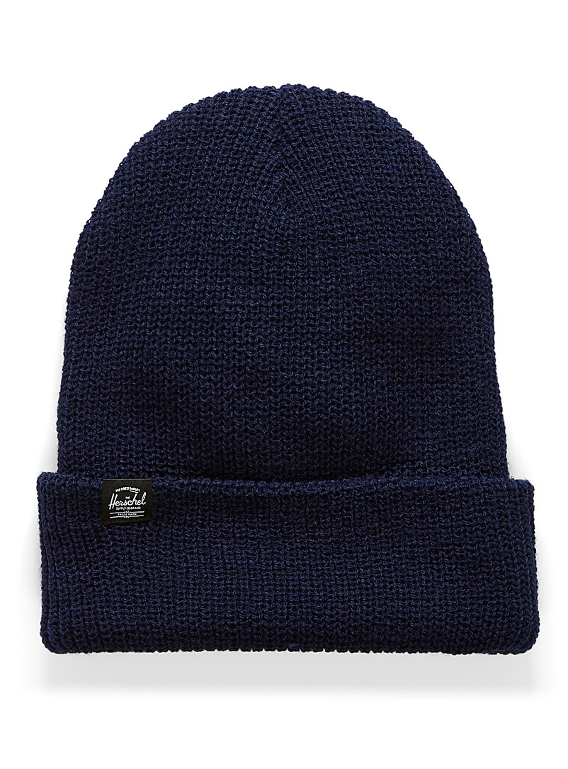 Herschel Marine Blue Quartz waffle knit tuque for men