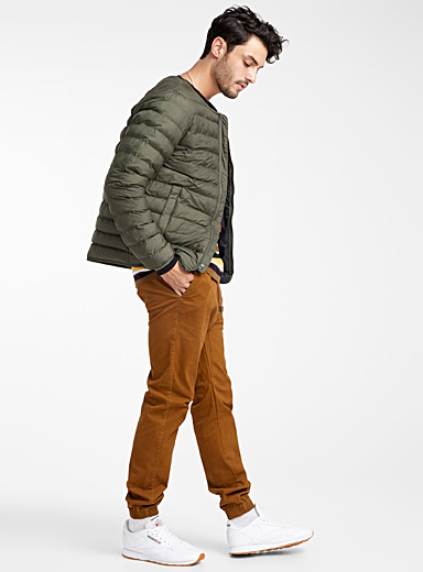 Crew neck featherweight puffer jacket