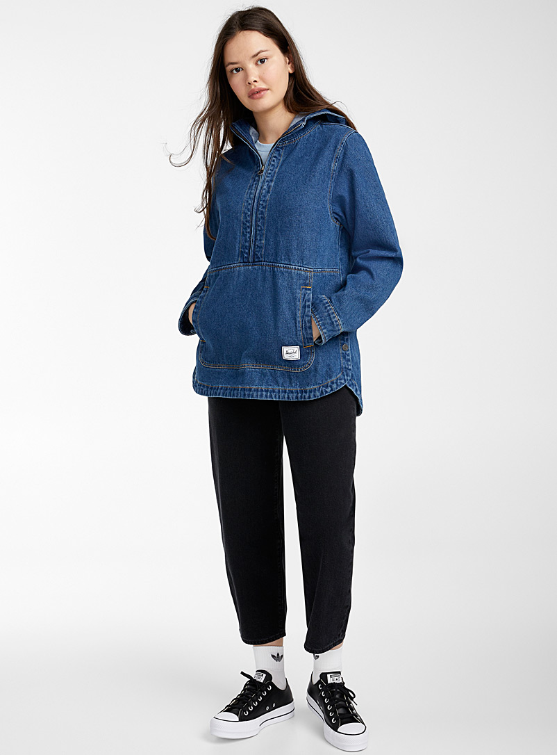 Herschel Blue  Vintage denim anorak for women