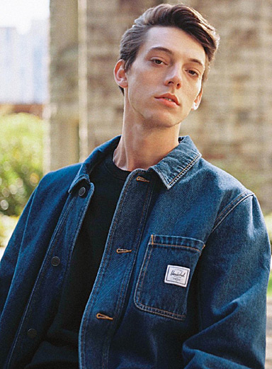 Herschel Slate Blue Workwear denim jacket for men