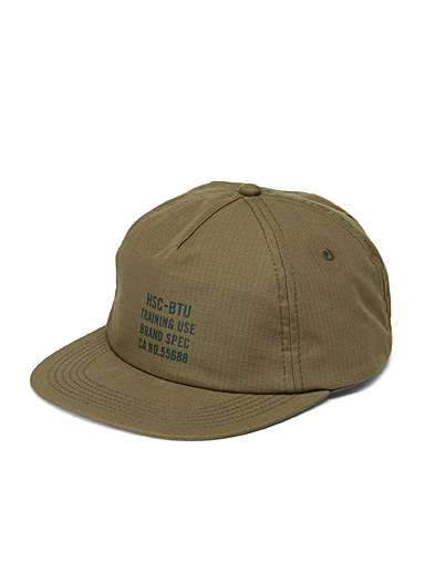 Herschel Mossy Green Scout typographic trucker hat for men