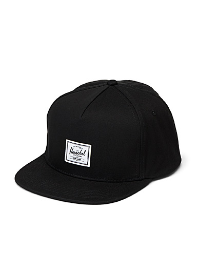 Herschel Black Whaler trucker cap for men