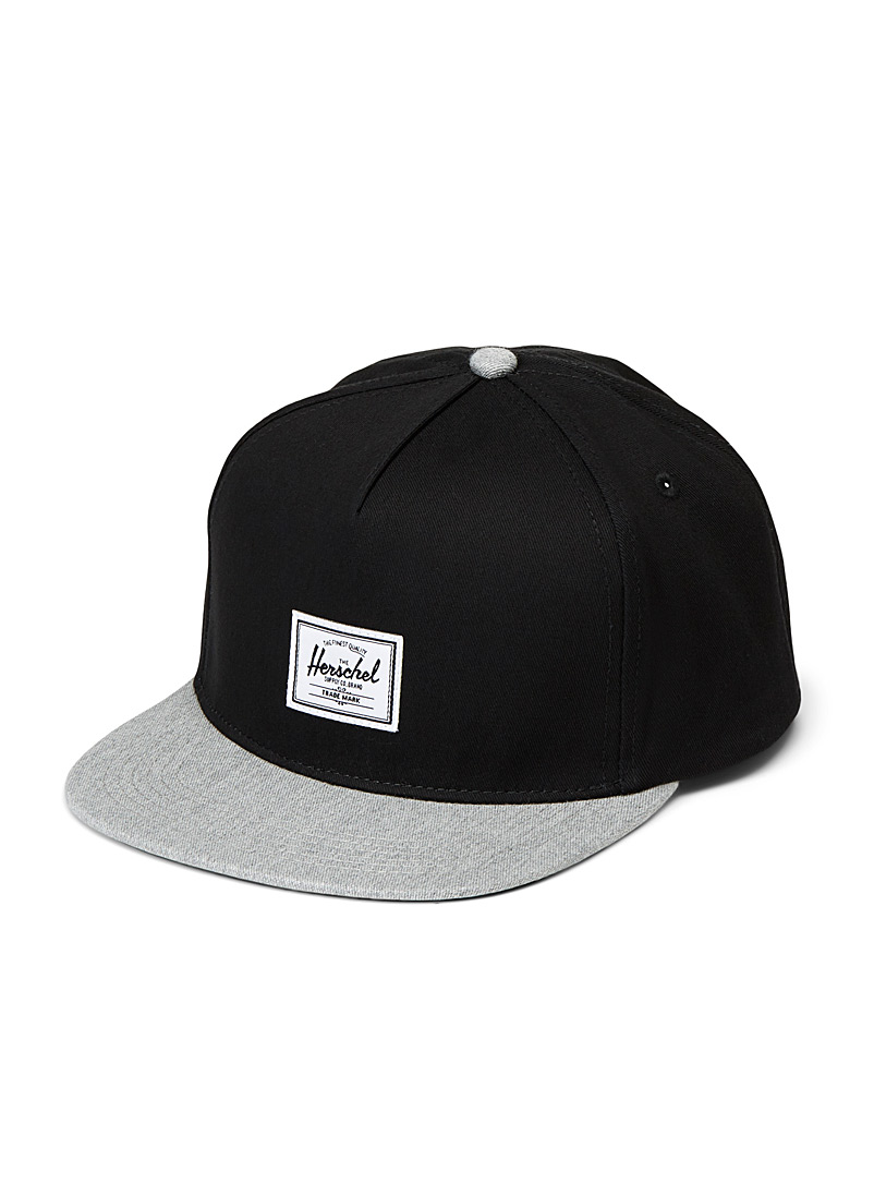 Herschel Patterned Black Whaler trucker cap for men