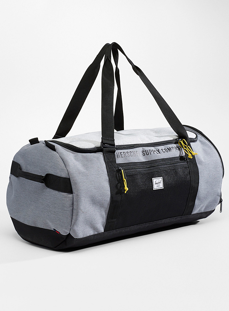 Herschel Patterned Black Sutton sporty weekend bag for men
