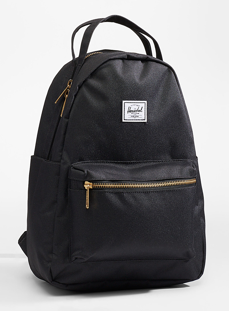 Herschel Black Nova small backpack for women