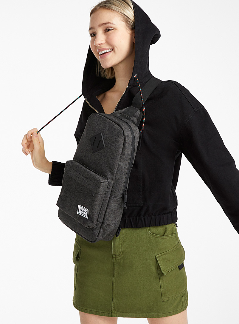 Herschel Grey Heritage shoulder bag for women