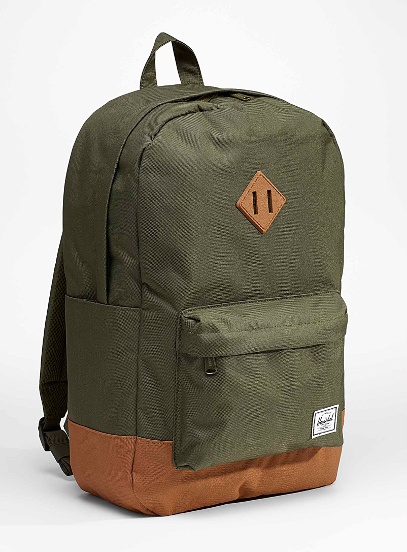 Herschel Mossy Green Recycled Heritage backpack for women