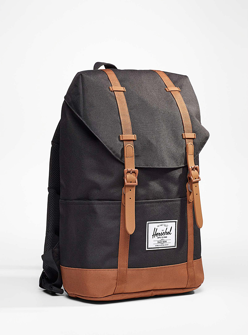 Herschel Black Eco-friendly Retreat medium backpack for women