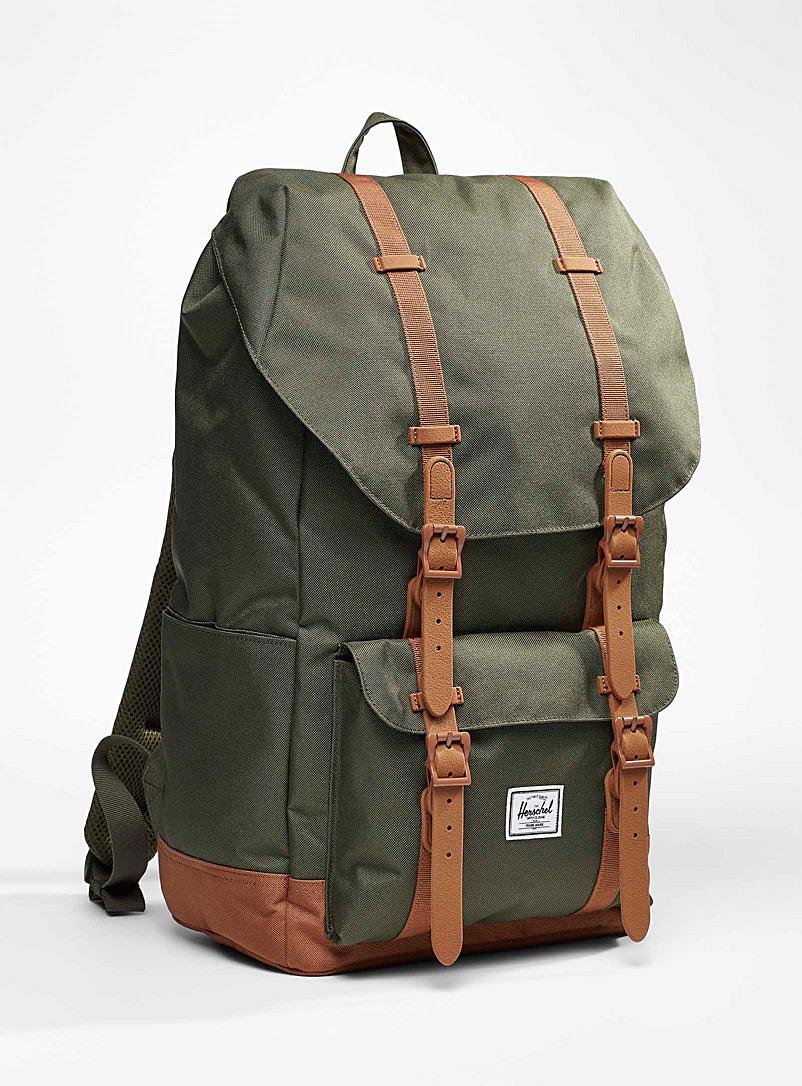 Herschel Mossy Green Eco-friendly Little America standard backpack for women