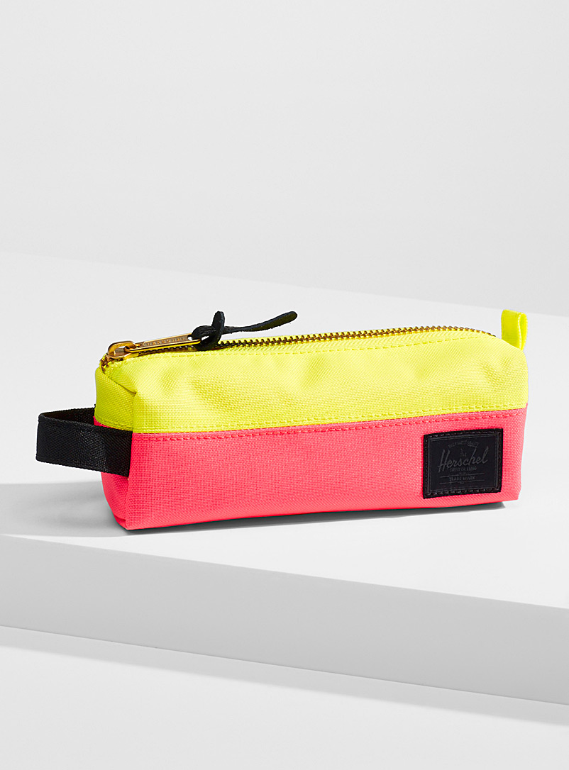 Herschel Cherry Red Settlement pencil case for women