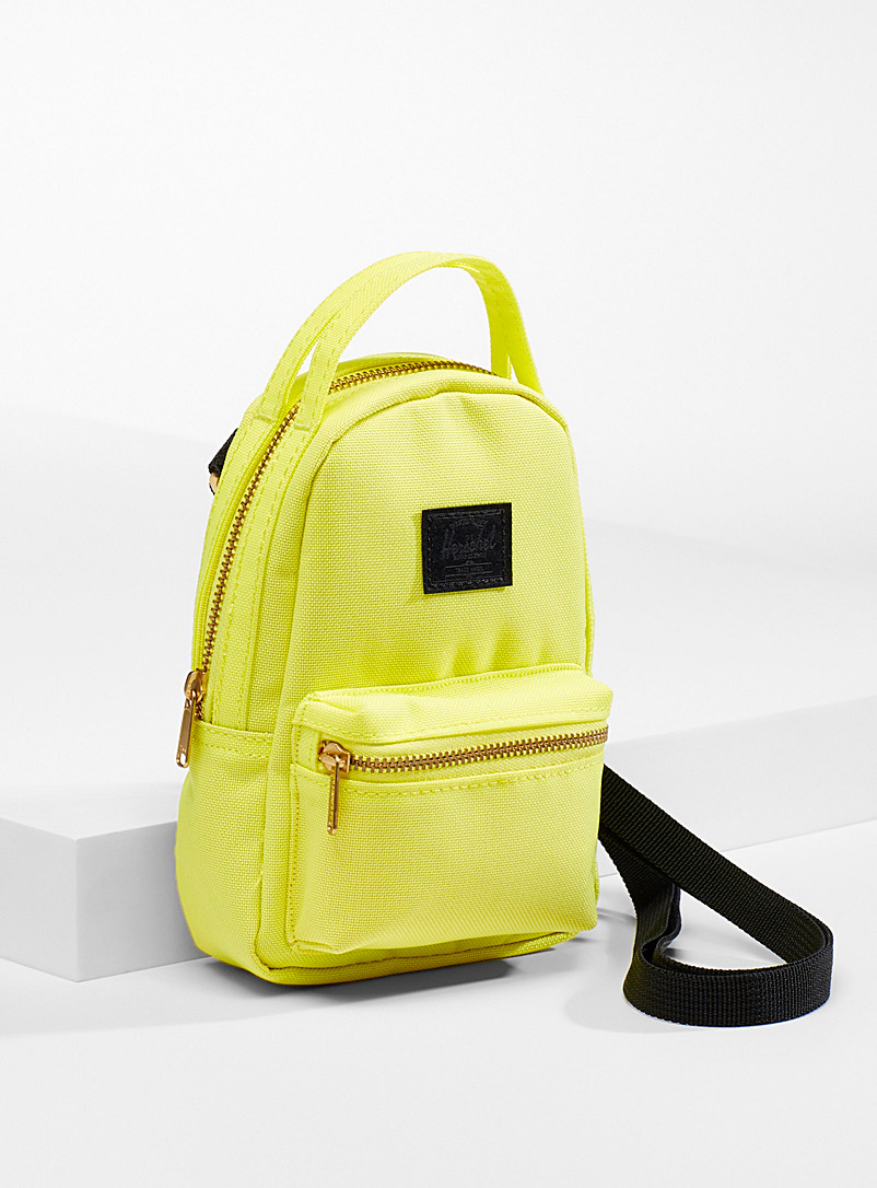 Herschel Bright Yellow Nova mini shoulder bag for women