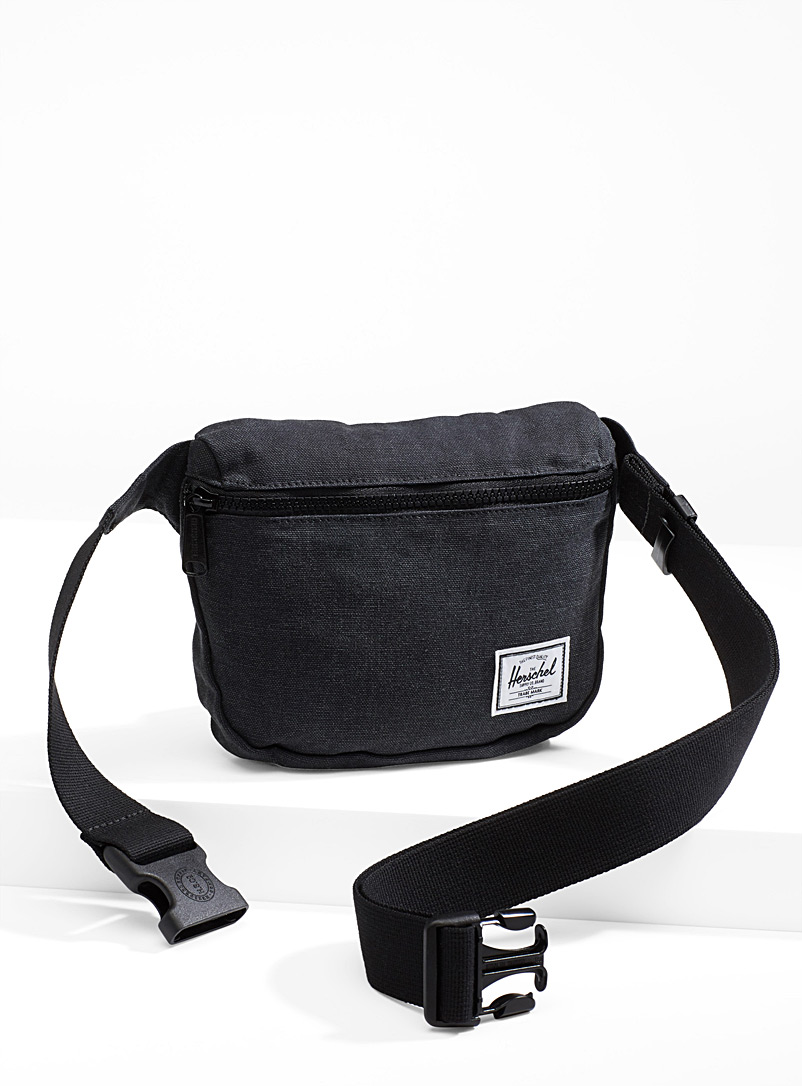 Herschel Black Fifteen solid belt bag for women