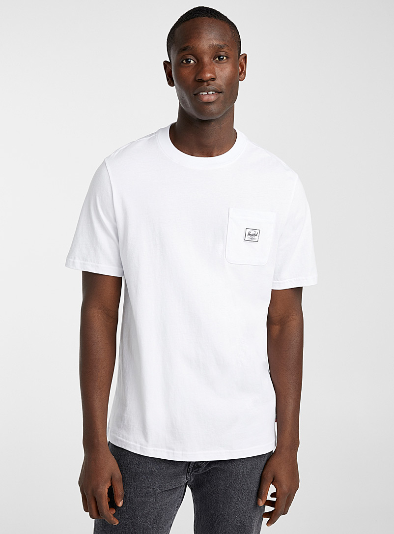 Herschel White Badge pocket T-shirt for men