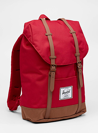 Herschel Red Retreat backpack for women