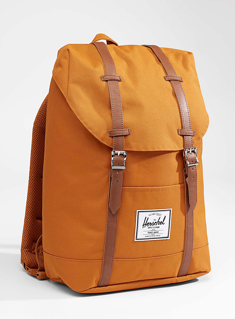 Herschel Light Orange Retreat backpack for women