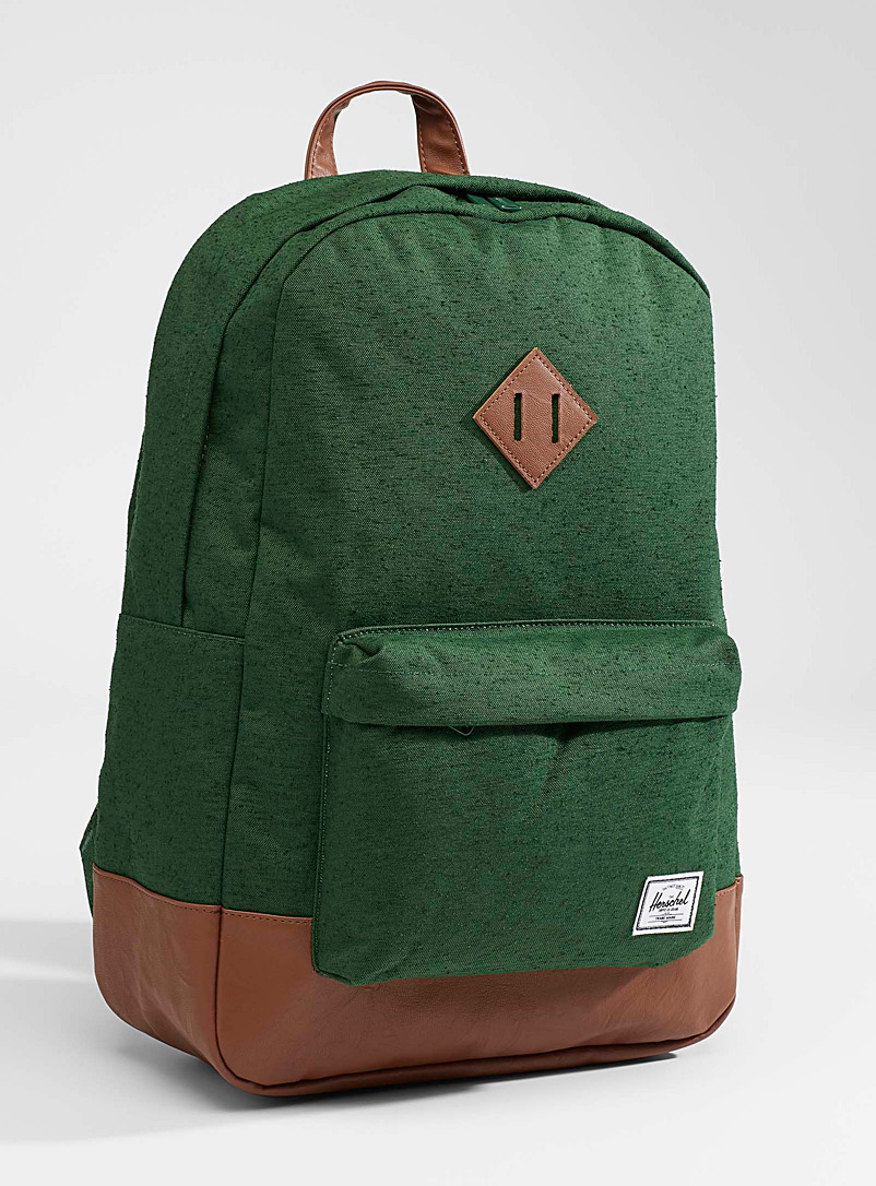 Herschel Bottle Green Heritage backpack for women