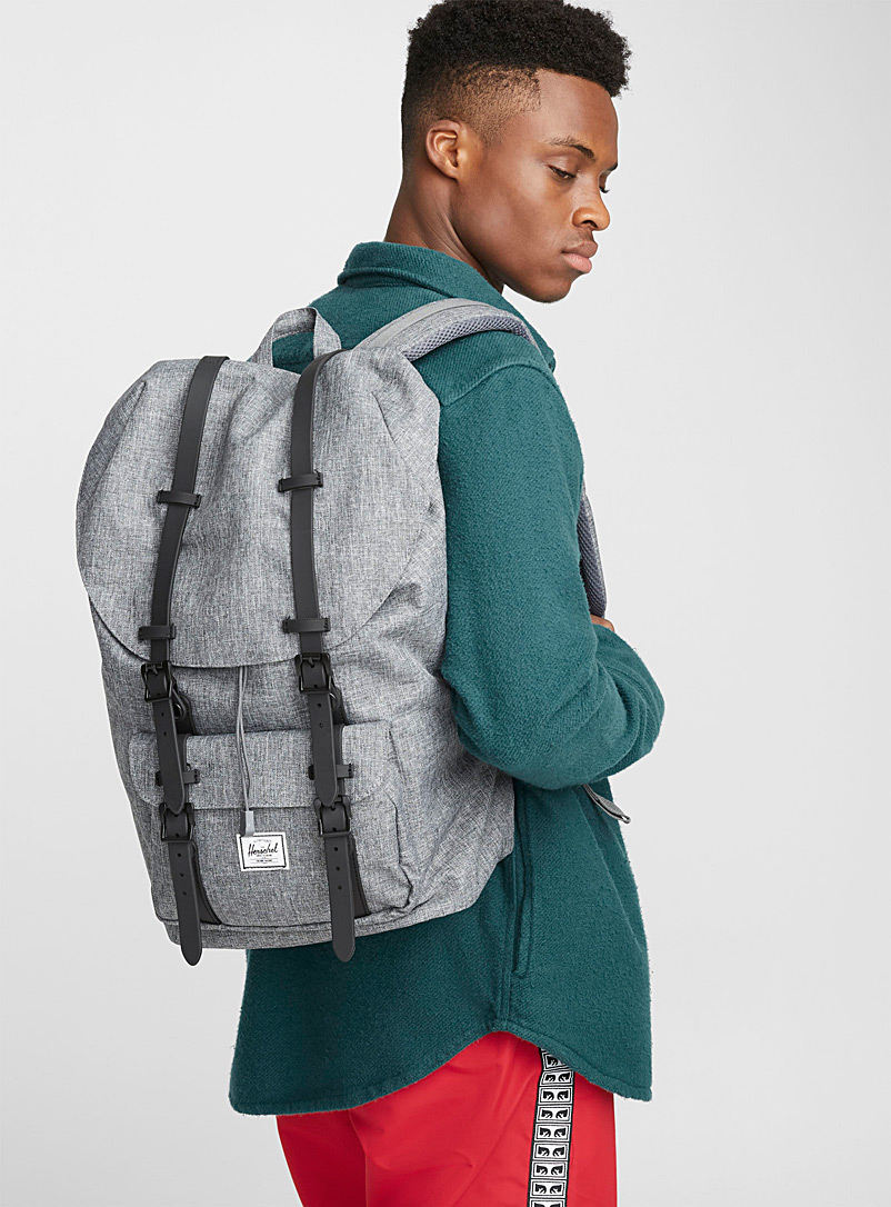 Herschel Black Little America backpack for men