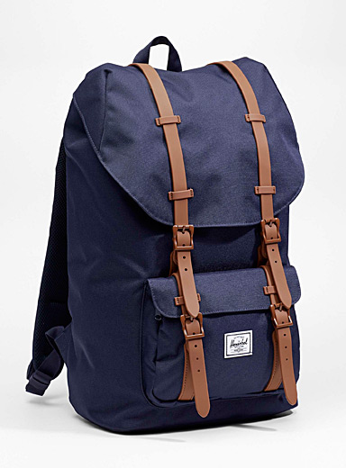 Herschel Marine Blue Colourful Little America backpack for men