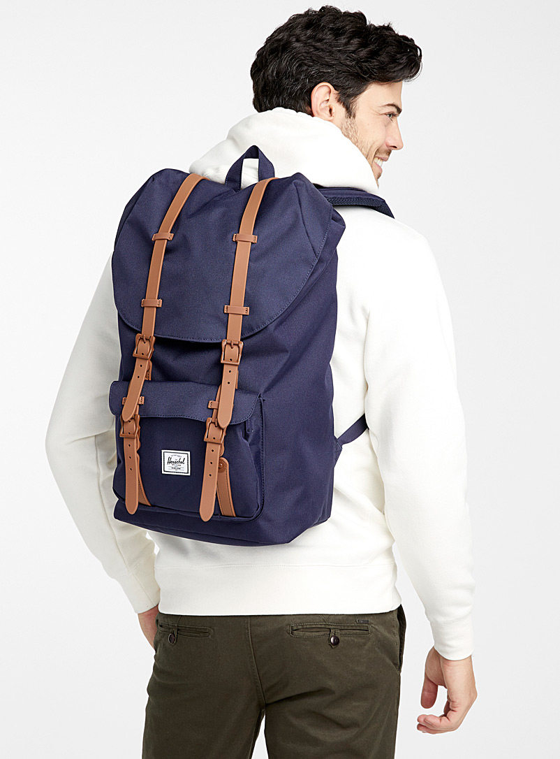 Colourful Little America backpack - Backpacks - Marine Blue