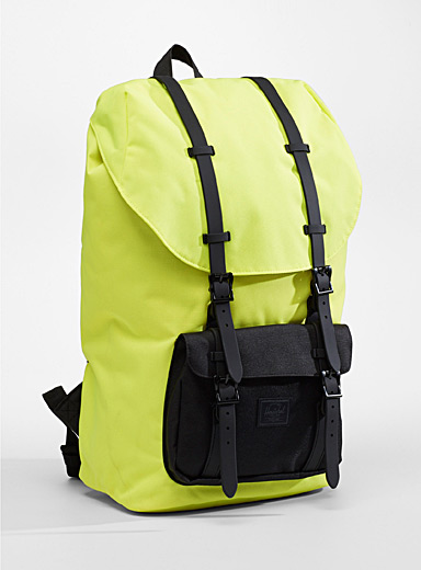 Herschel Bright Yellow Colourful Little America backpack for men