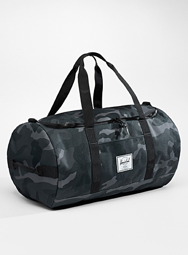 Herschel Patterned Grey Sutton weekend bag for men