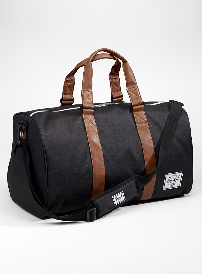 Herschel Black Novel weekend bag for men