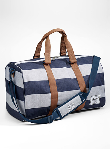 Striped Novel weekend bag